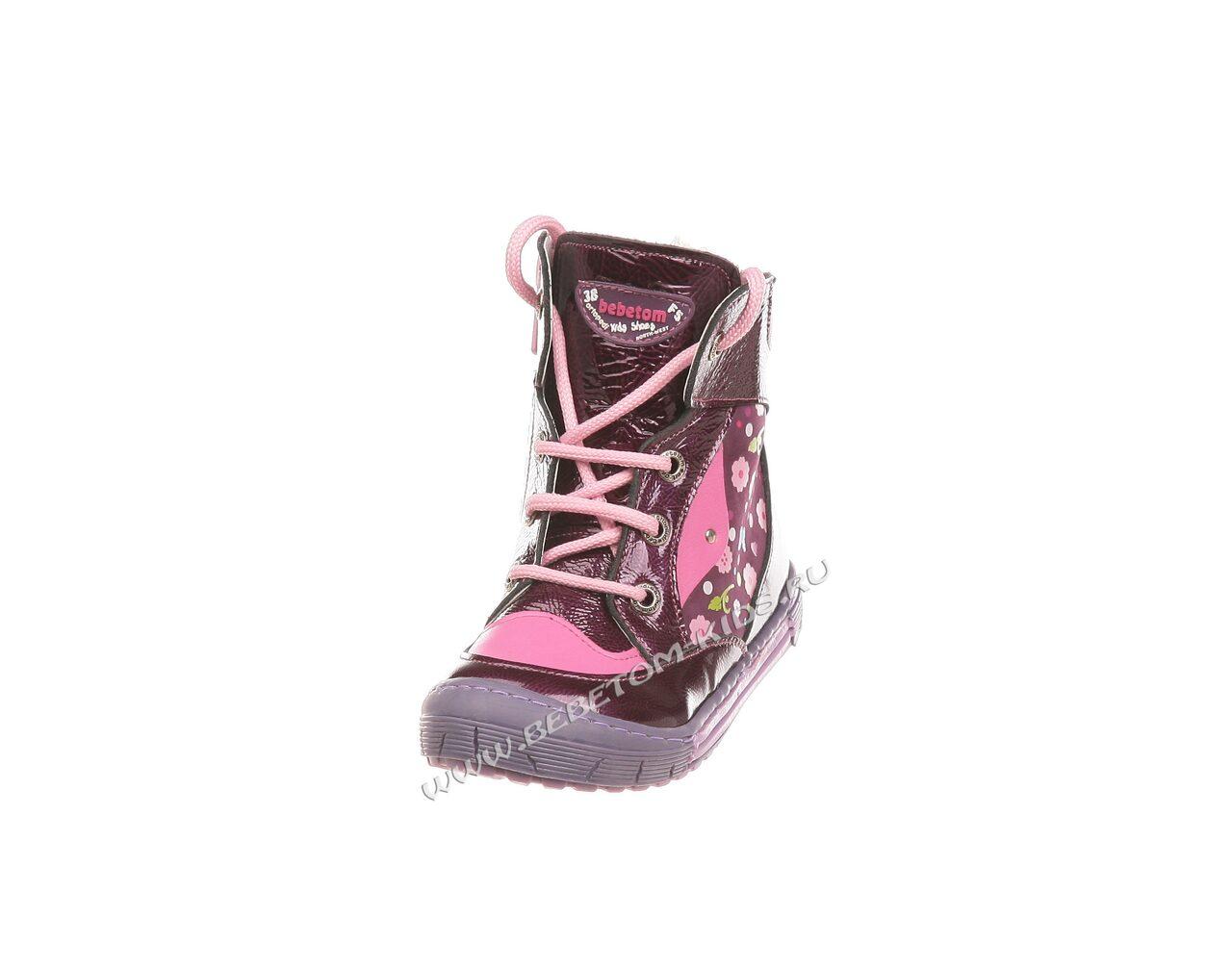 Зимняя ортопедическая обувь детская фото, Жен. туфли S1098-1207черв